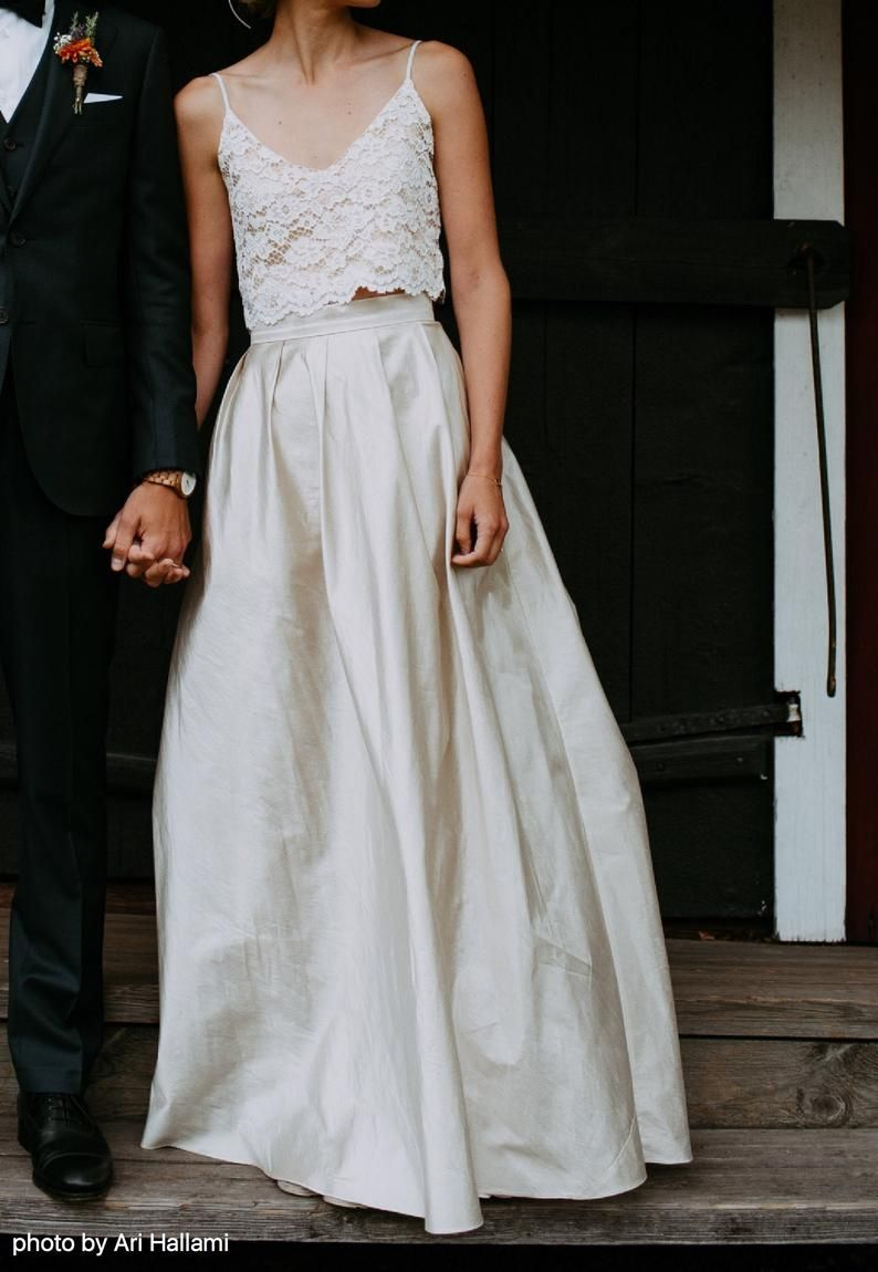 10+ Wedding dress skirt and crop top information