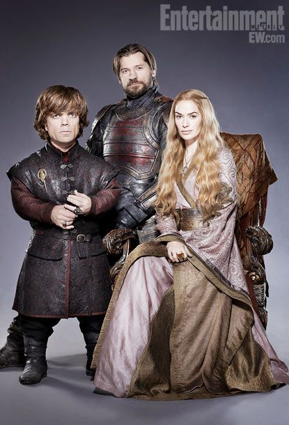 Jamie, Tyrion and Cersei Lannister. Game of Thrones portraits