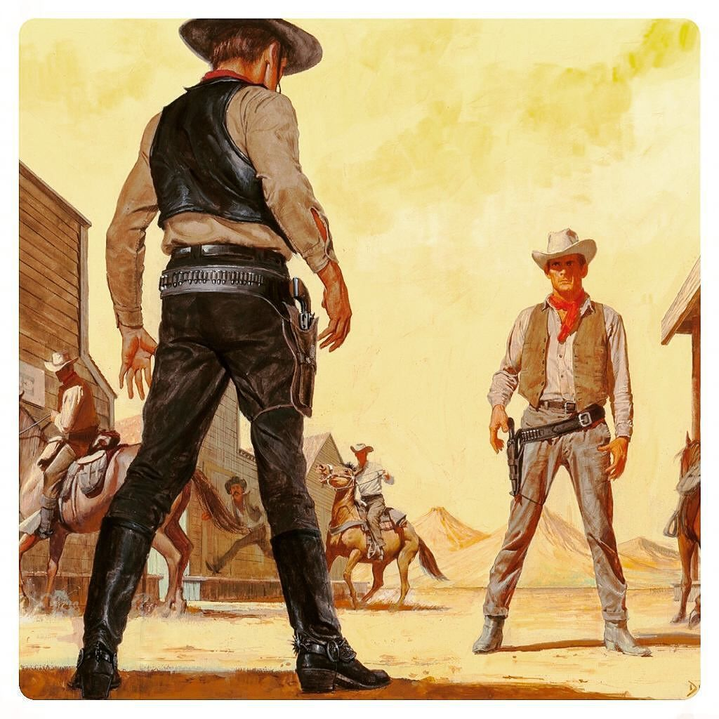 Gunfight At The Ok At The Ok Corral. Art by John Duillo by pulpster ...