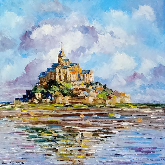 Le Mont Saint Michel Landscape Paintings Art Painting