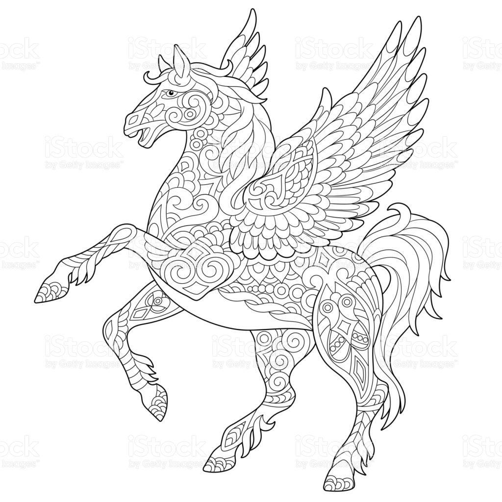 Pegasus Griechischen Mythologischen Geflugelte Pferd Lizenzfreies Pegasus Griechischen Mythologischen G Malvorlagen Pferde Malvorlage Einhorn Wenn Du Mal Buch