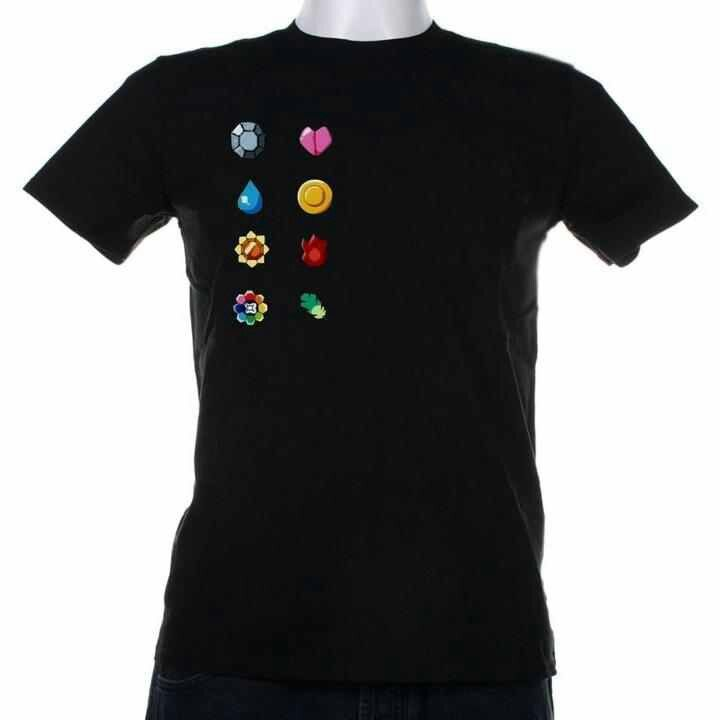 Kanto Region Gym Badges Tshirt Gaming Clothes Nerd Merch Pokemon Badges