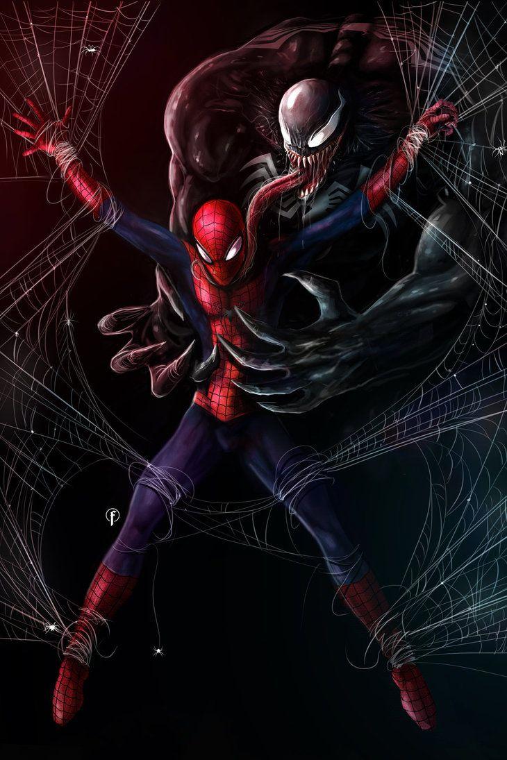 #Venom #Fan #Art. (Venom Vs Spider-Man) By: Riccardo ...