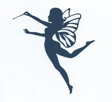 fairy with wand 2 silhouette by hilemanhouse on etsy