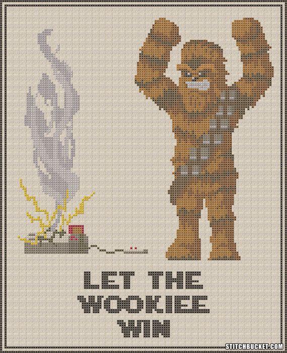 Chewbacca Let The Wookiee Win Star Wars Cross par StitchBucket ...
