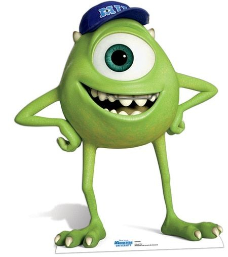 Lifesize Cardboard Cutout Of Mike Wazowski From Monsters University Huge Selection Of Movie Music And Celebrit Disney Monsters Monster University Monsters Inc