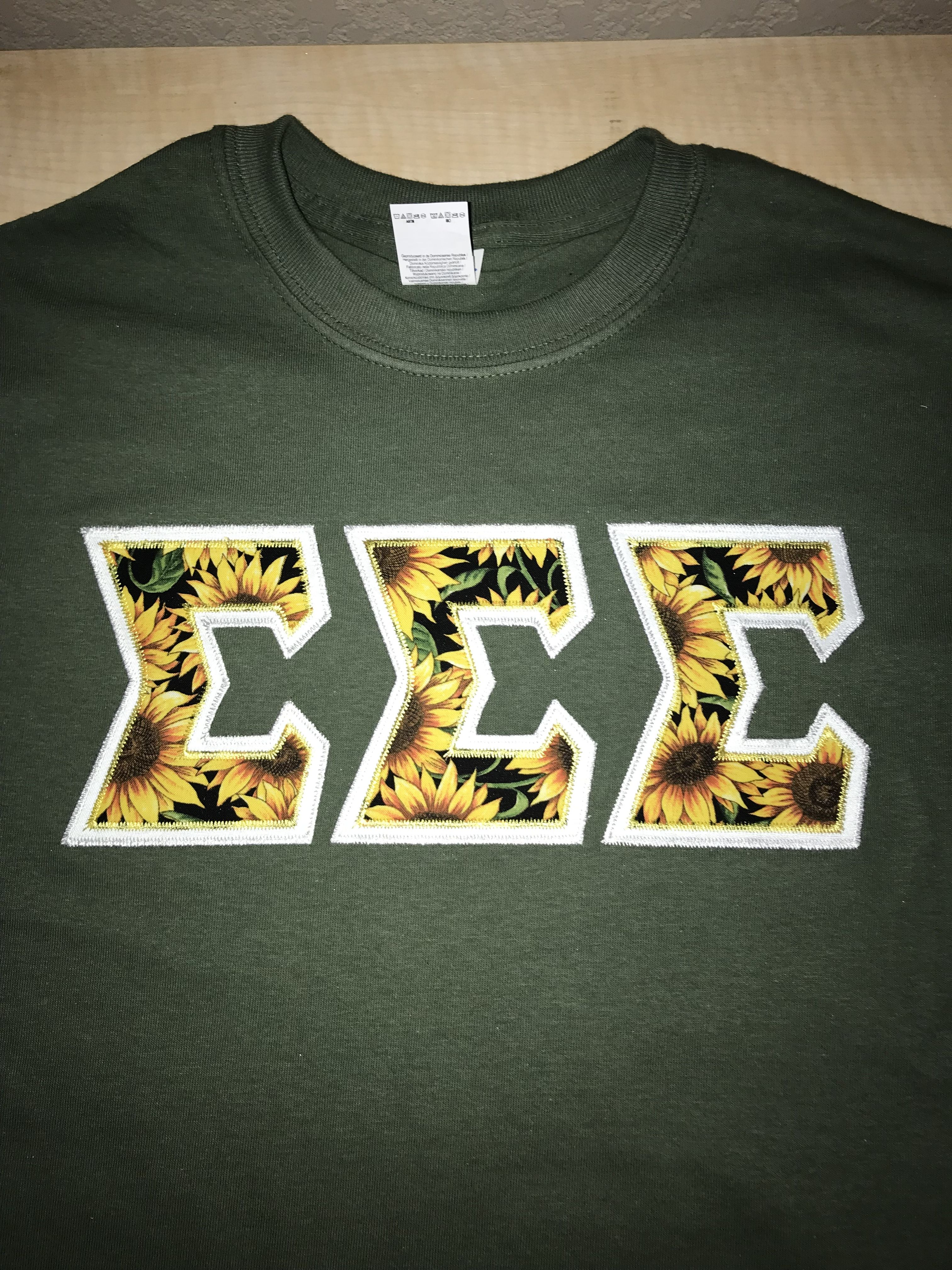 Tri Sigma Letters : sigma, letters, Sigma, Shirts,, Sorority, Shirts, Letters,, Letter