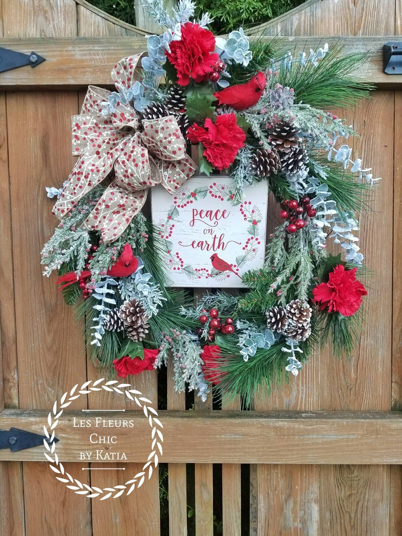 Pin by Les Fleurs Chic by Katia on Farmhouse Christmas Wreath