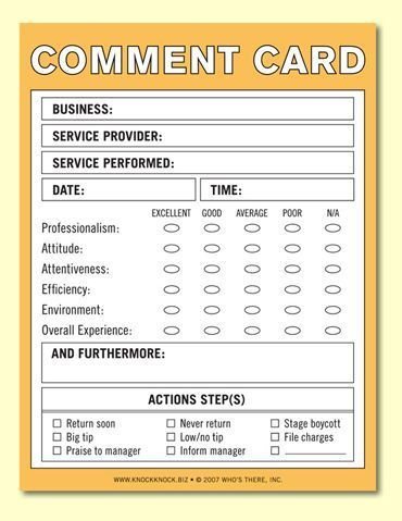 Comment card postcard for El Sombrero Comment Card Pinterest - business spreadsheet templates free