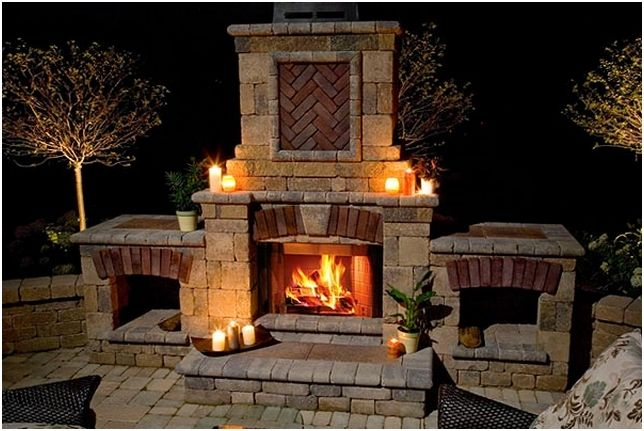 Cool Outdoor Fireplace Diy With Images Outdoor Fireplace Plans