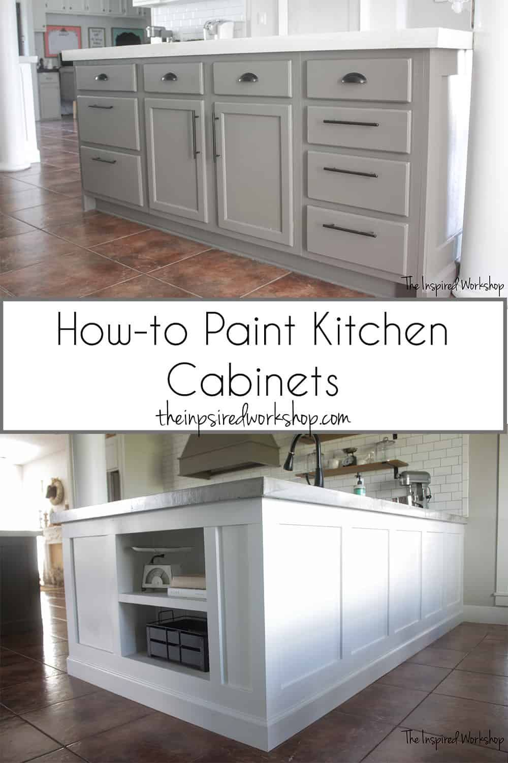 How To Paint Kitchen Cabinets Step By Step Tutorial To Show You How Easy You Can Paint Your Kitchen Cabinets Tips And Tricks