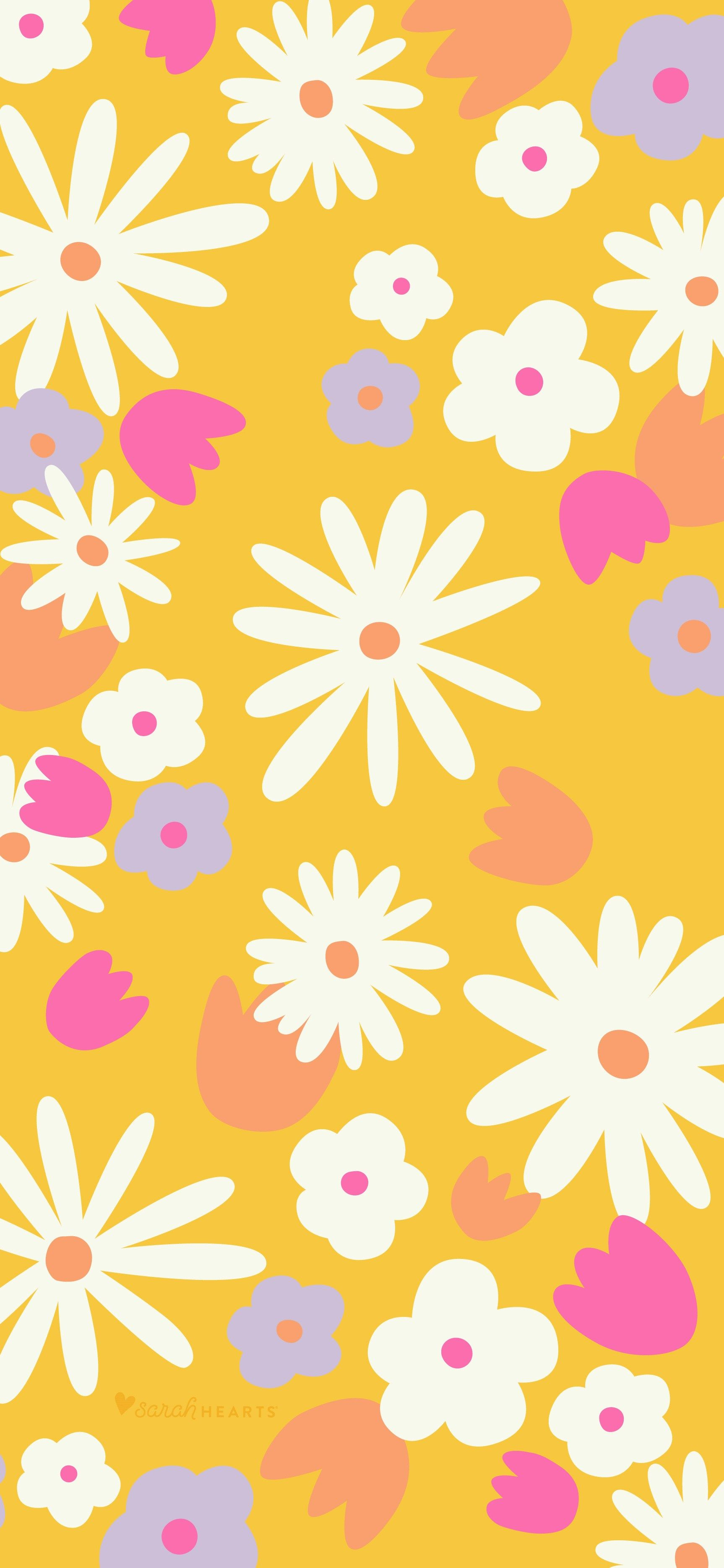 June 2020 Floral Calendar Wallpaper - Sarah Hearts