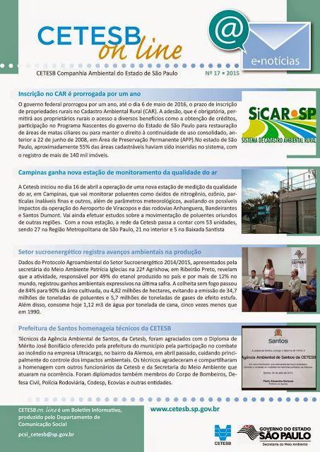 Informação presta: leia os arquivos do blog: A Ouvidoria da CETESB, criada em Julho de 1999, te...