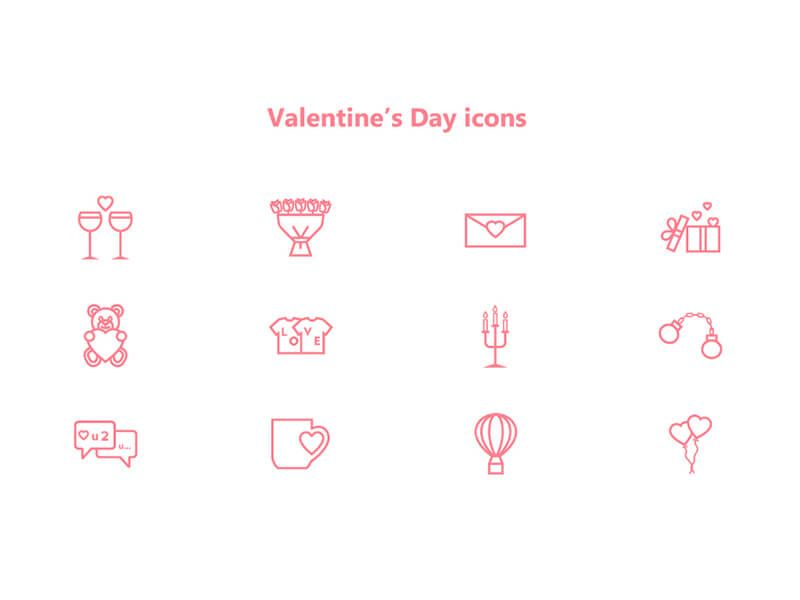 Free Valentine's Day Icons Pack