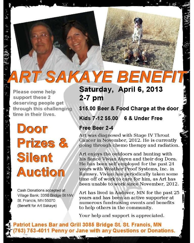 Free Benefit Flyers For Cancer Victims  Art Sakaye Benefit