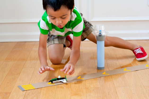 DIY Cardboard Runway: Easy Kids Craft made from materials ...