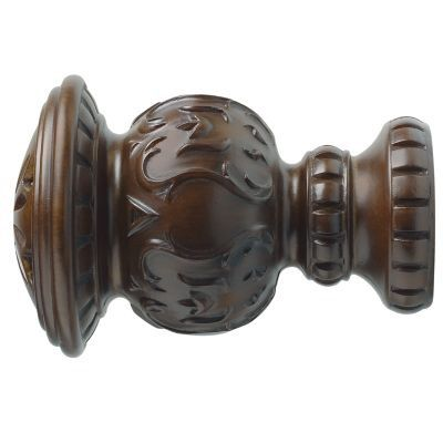Kirsch 2 Inch Wood Trends Reign Finial With Images Drapery