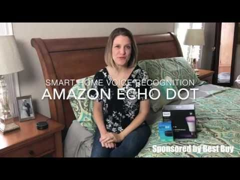 Want To Live In A Smart Home With The Echo Dot And Philips Hue Lightbulbs You Can Use Your Voice To Turn On Any Lamp With Images Cool Things To Buy
