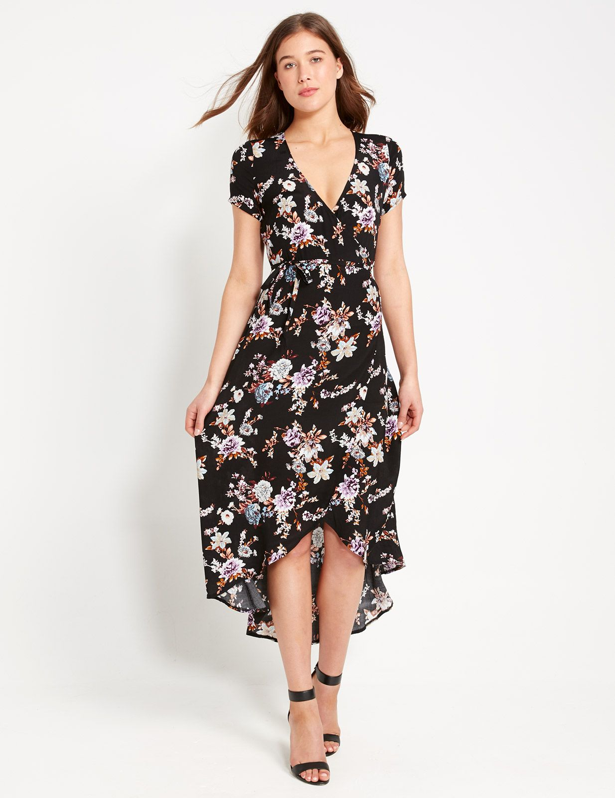06aacd41e6 Lilly Wrap Over Floral Dress
