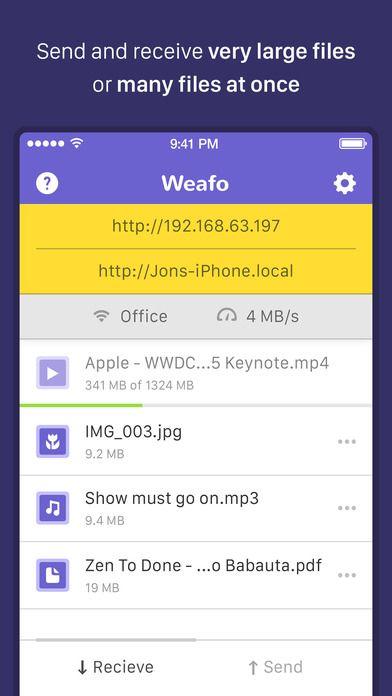 SAVE $0 99: Weafo File Transfer - Share Photo & Video via