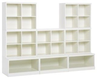 Cameron 5 Cubby And 3 Open Base Set Modern Toy Storage. Wall Organization  ...