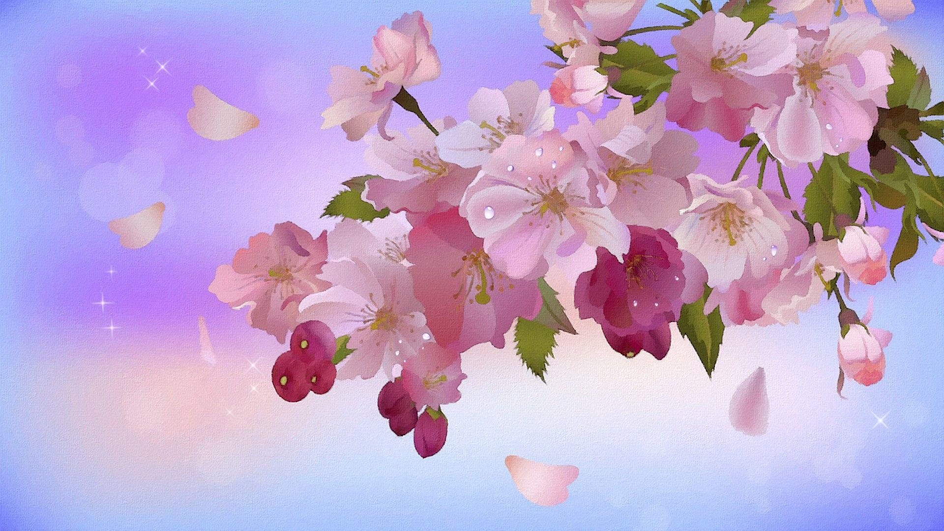 Fondos De Flores Wallpapers Hd Gratis: Una Pintura De Flores Hd 1920x1080