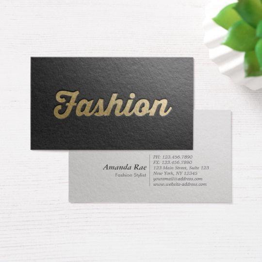 Minimal black gold embossed text fashion stylist business card minimal black gold embossed text fashion stylist business card colourmoves