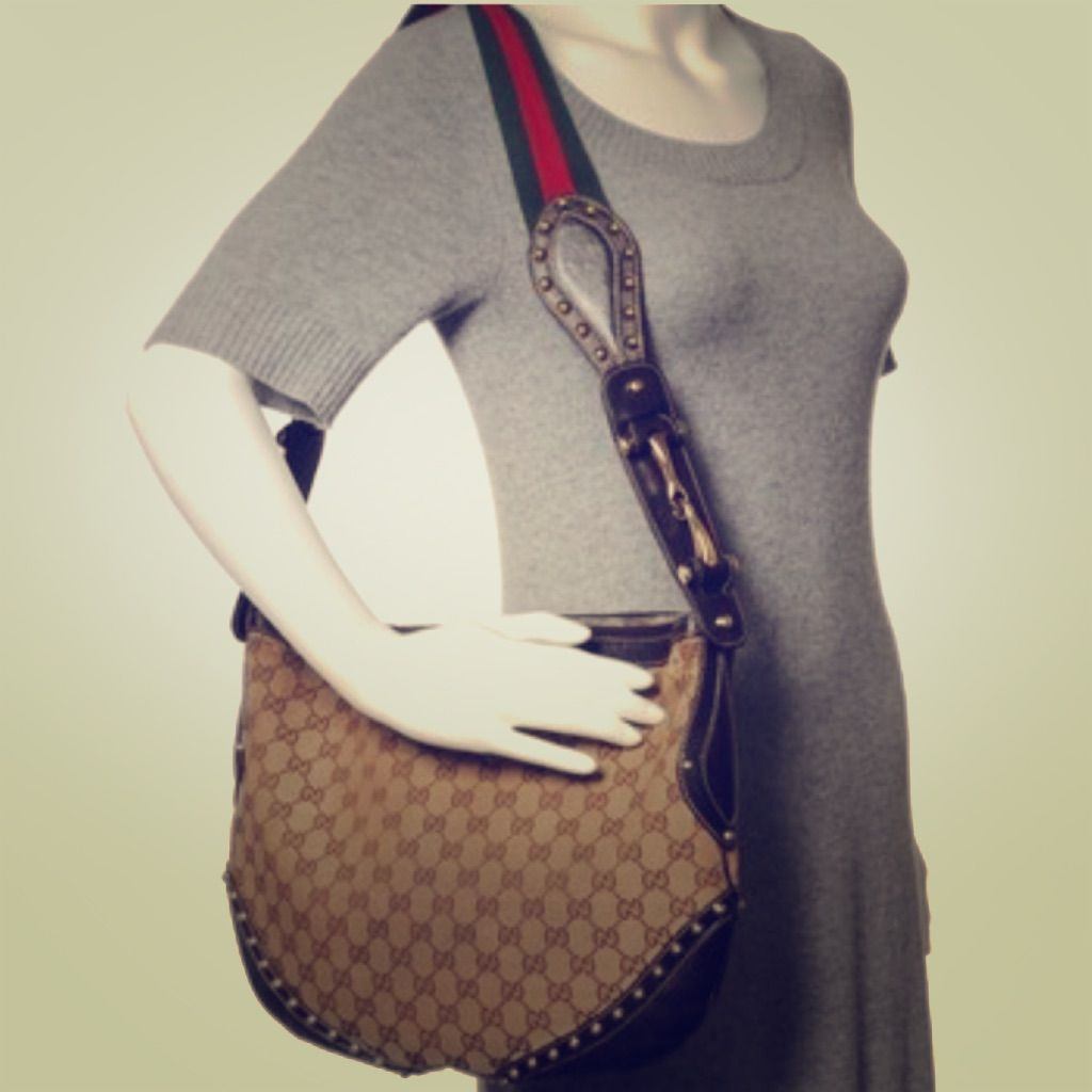 Authentic Gucci Pelham Messenger Large Hobo Bag