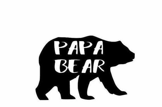 Papa Bear Daddy Bear Diy Shirt Decal Vinyl By