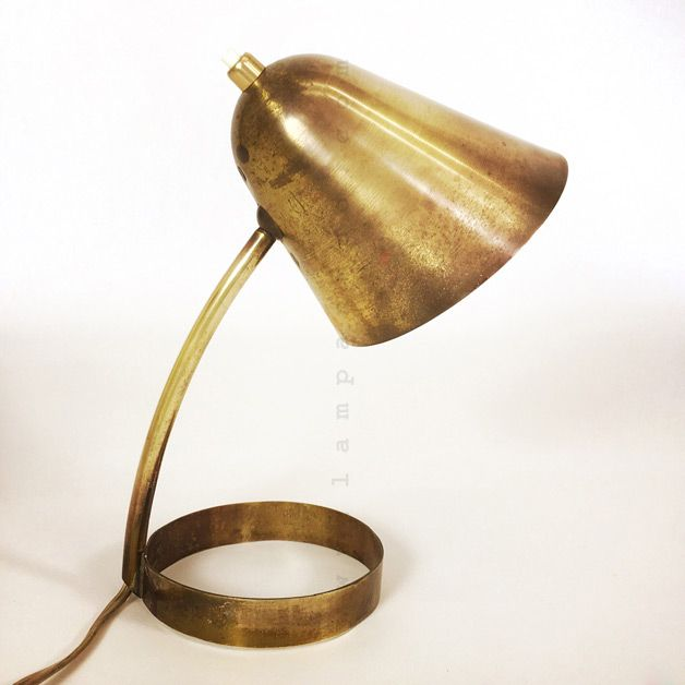 Ravishing brass table lamp from the fifties.