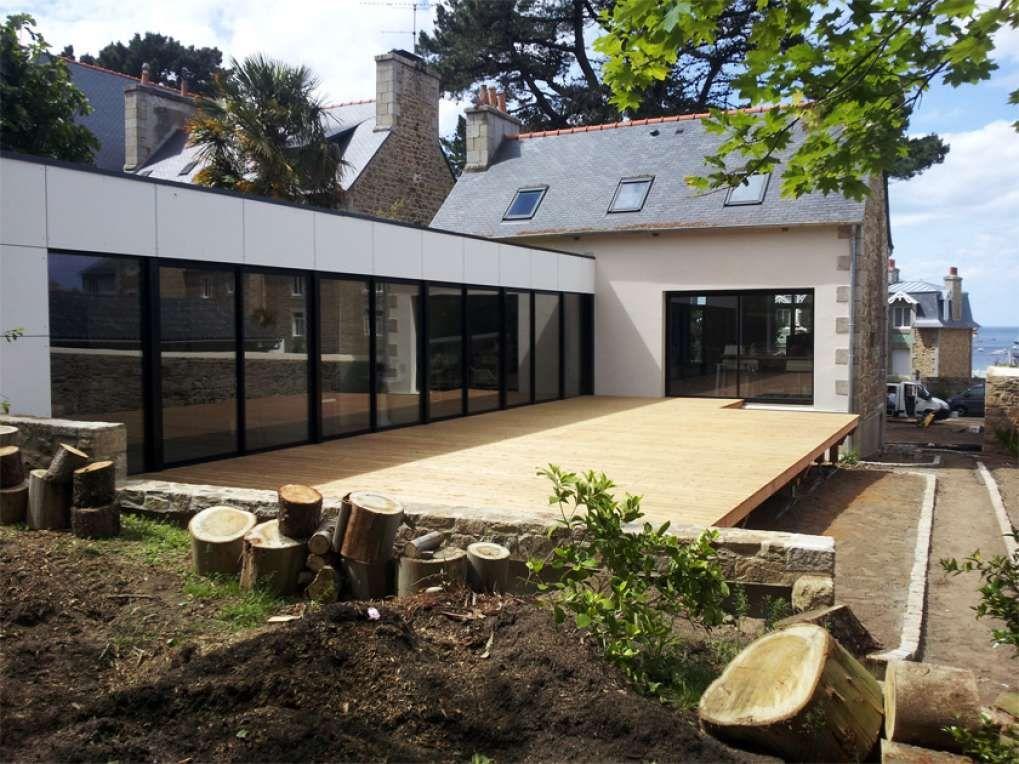 Rénovation et agencement maison bretonne  isolation laine de bois