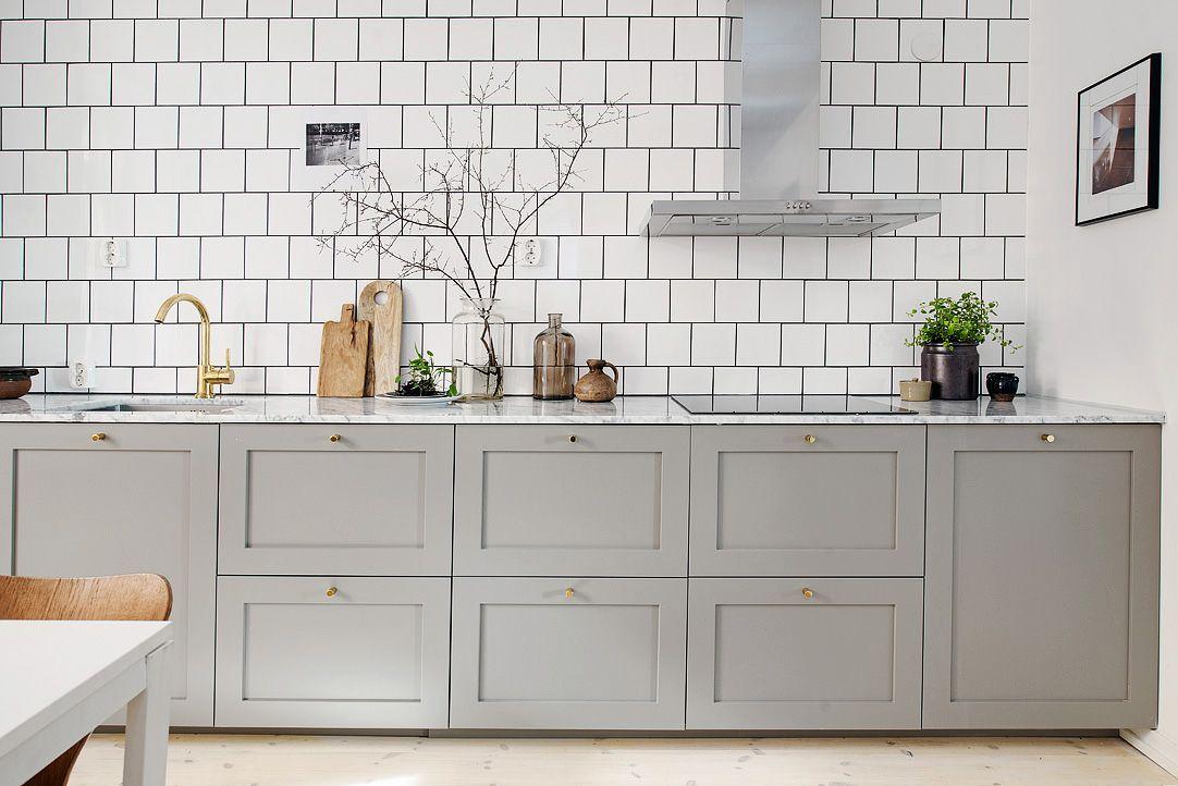 Me he enamorado de esta cocina, desde esos azulejos blancos con la