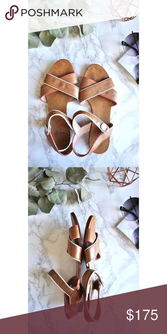 f3f6bf609 See By Chloe Genuine Leather Strappy Flat Sandals in 2018