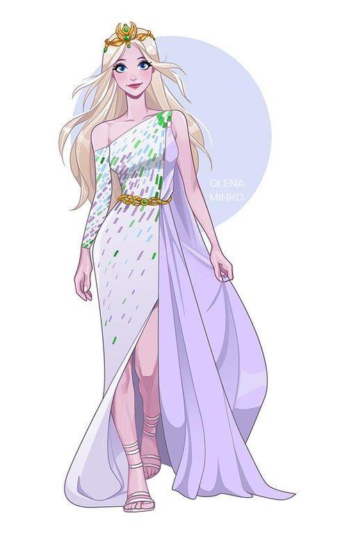 Elsa by OlenaMinko (I really love the look the artist gave Elsa!) : Frozen