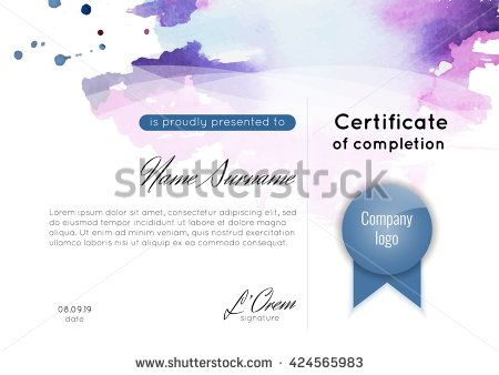 Certificate Of Appreciation Completion Achievement Graduation