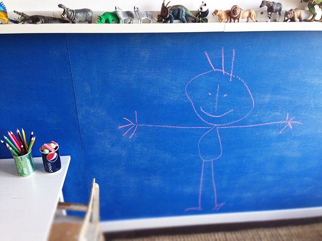 Kinderzimmer gestalten und dekorieren mit einer tafelwand - Tafelwand kinderzimmer ...