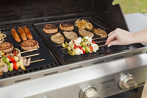 Gardenhome Heavy Duty Grill Mat Set Of 2 Nonstick Bbq Grilling