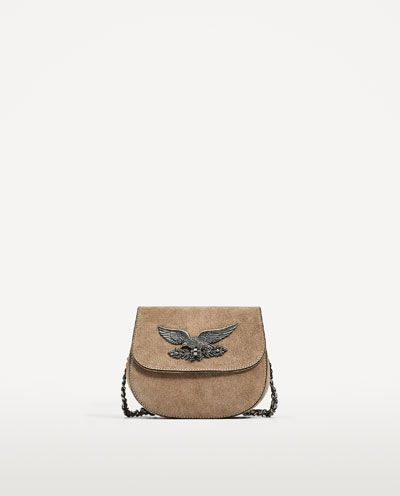 Leather Cross Body Bag With Flap Detail Leather Bags Woman