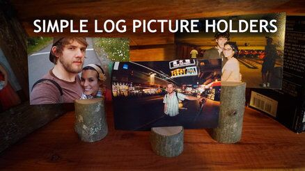 Check out these log picture holders.   http://youtu.be/4HhMj3ZJ2s4