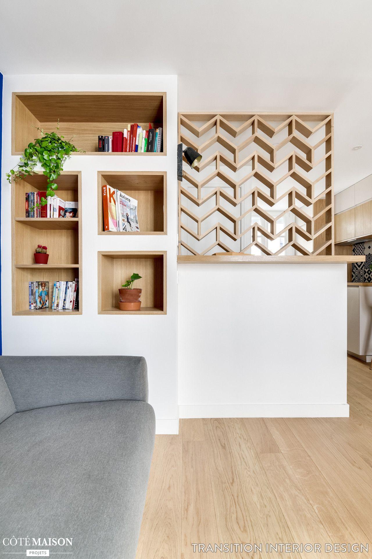 Appartement paris 10 32 m2 avec un cube multifonction - Architecte interieur paris petite surface ...
