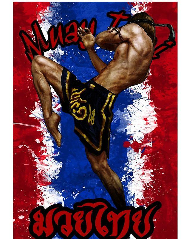 Muay Thay Boxing Flag Thailand Martial Art Graphic T Shirt By Lu2k Muay Thai Martial Arts Muay Thai Kicks