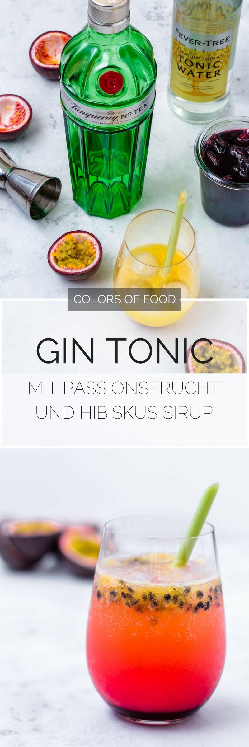 gin tonic mit passionsfrucht und hibiskus sirup recipe. Black Bedroom Furniture Sets. Home Design Ideas