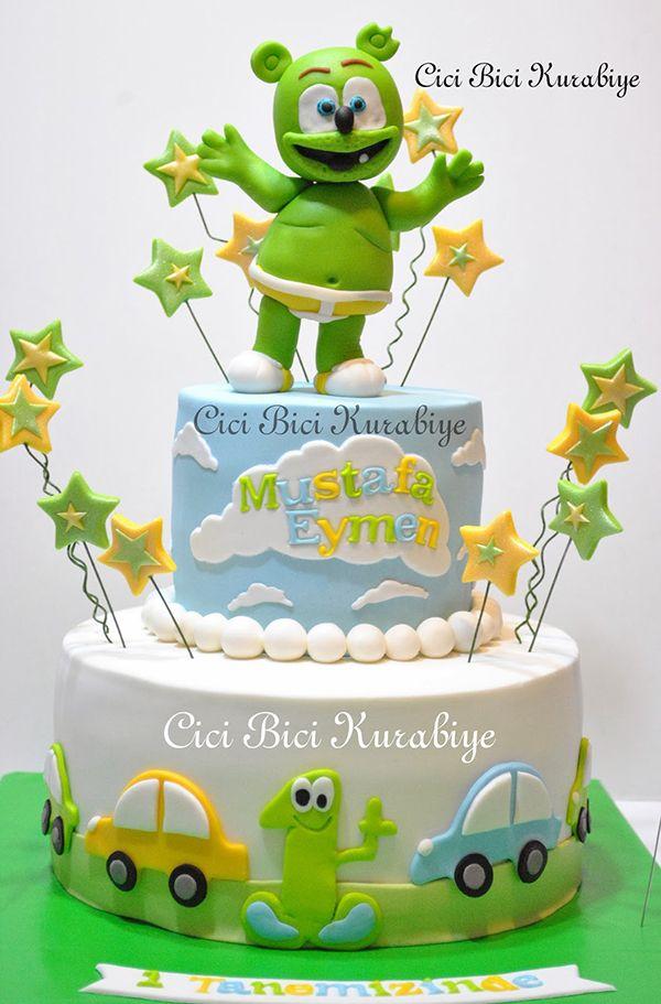 Outstanding Its A Turkish Gummibar Birthday Cake With Images Gummy Bear Funny Birthday Cards Online Benoljebrpdamsfinfo