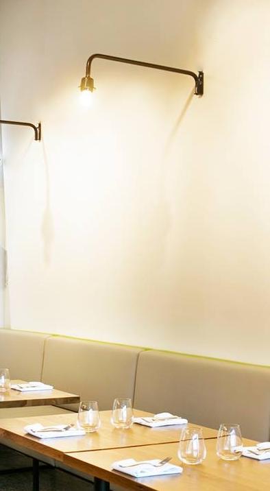 Minimilist Wall Lamp In Modern Restaurant Www Boudi Co Nz Mb Modern Restaurant Wall Lamp Restaurant