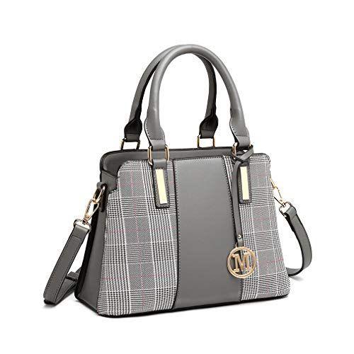 Miss Lulu Sac à main Femme Retro Stripes Crossbody Bags Sac à bandoulière en similicuir avec couture élégante   – Sac à main pour femme à rayures