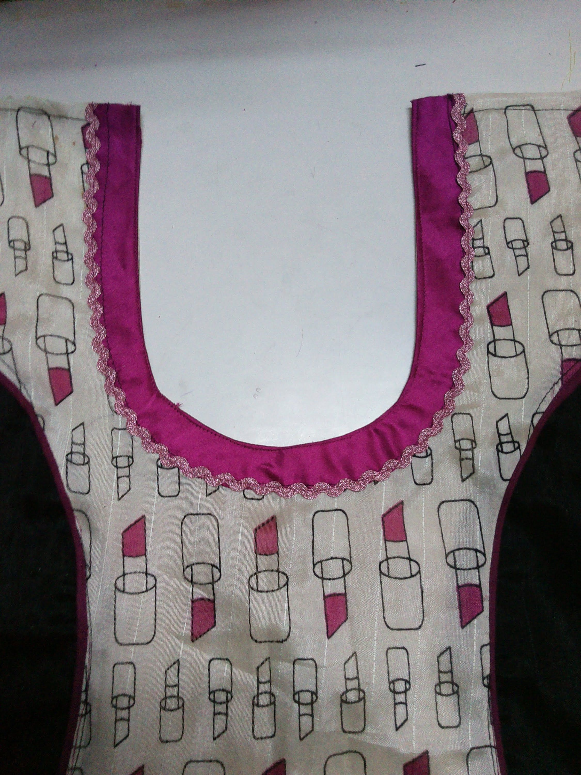How to make neckline borderIcicle-2-1