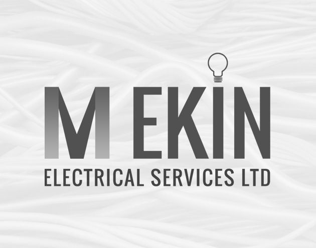 M Ekin Electrical Logo Design