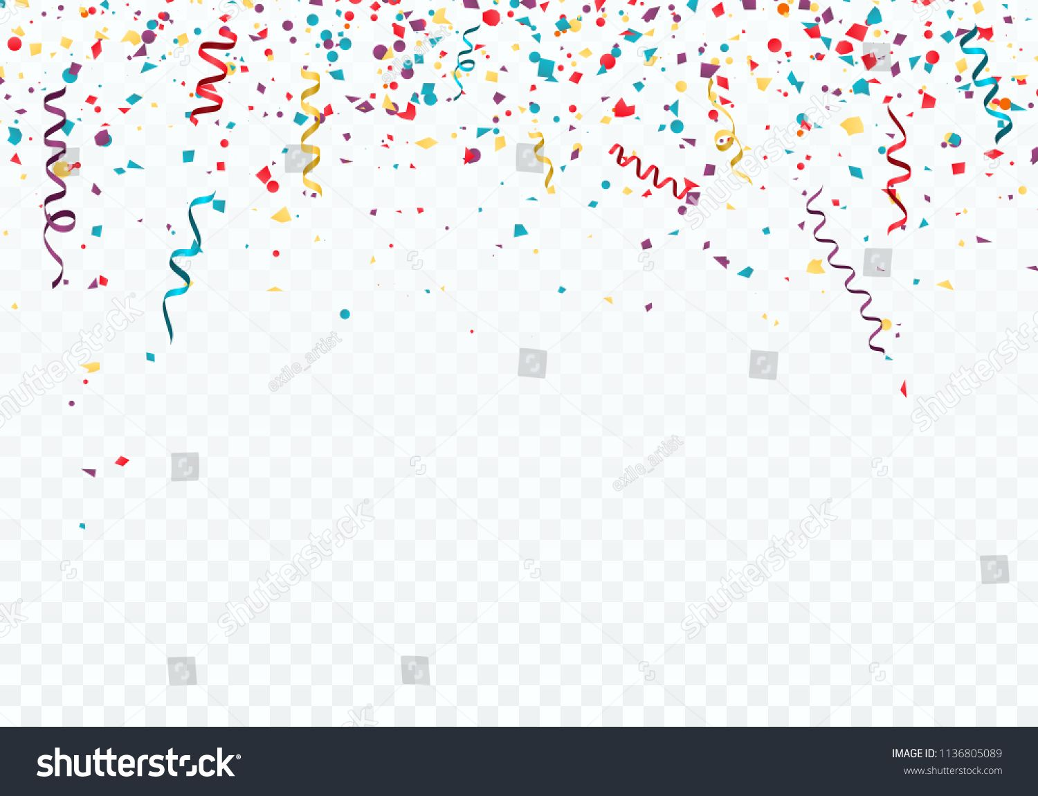 Celebration or festival background template with falling