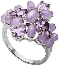 #Jewelry #Rings Les Bijoux Jade & Amethyst Ring