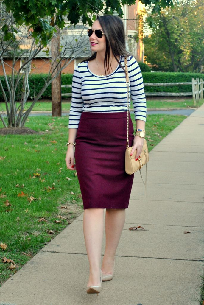 d84d0fa66d Burgundy pencil skirt and matching lipstick | Currently Coveting ...